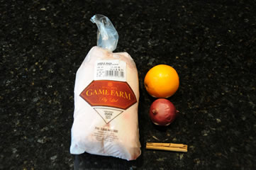 Ingredients for roasted duck